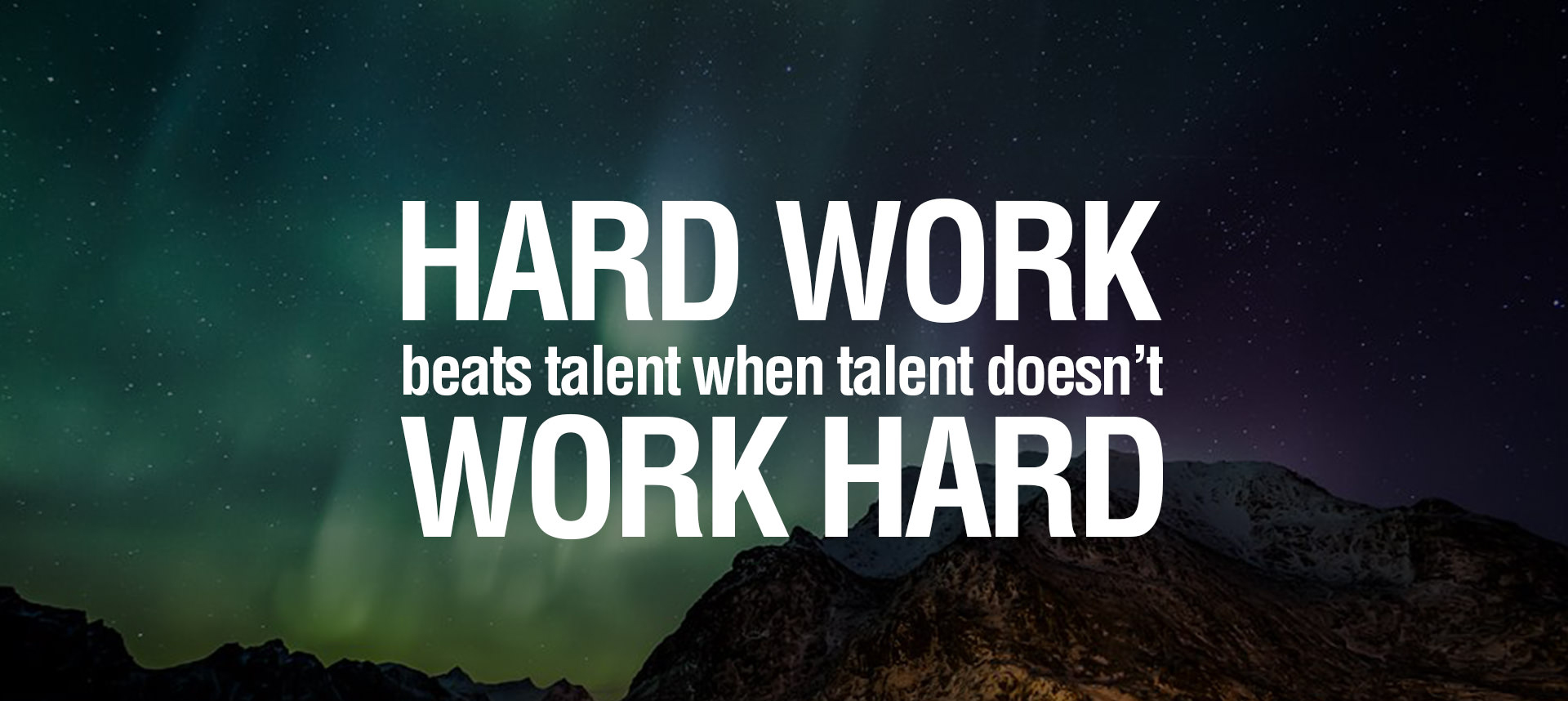 hard work beat talent